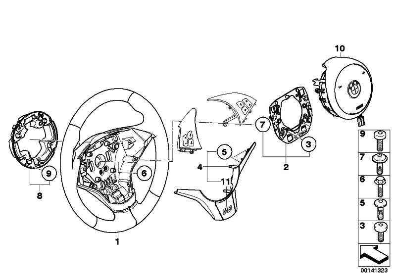 M Sportlenkrad Airbag Leder SMG SCHWARZ         5er 6er  (32342283931)