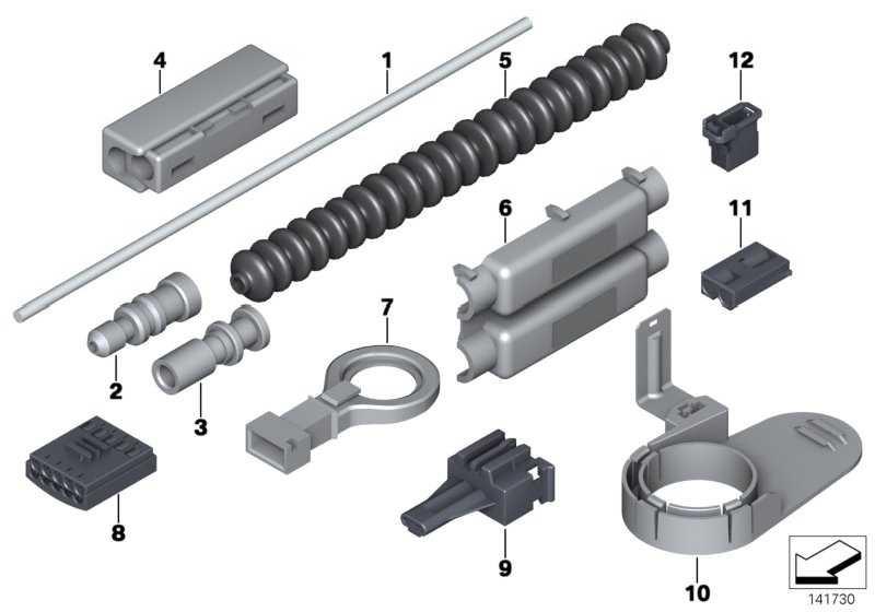 Lichtwellenleiter Stiftkontakt  1er 3er 5er 6er 7er X3 X5 X6 Z4  (61136905233)
