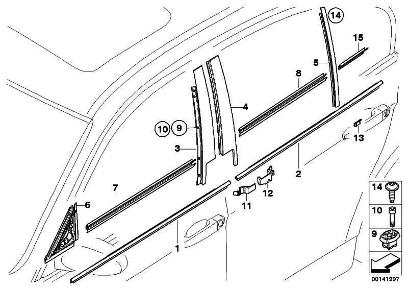 Schachtabdeckung aussen Tür hinten recht CHROM           3er  (51357119216)