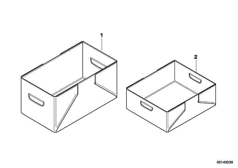 Faltbox KLEIN           1er 3er 5er 6er 7er X1 X3 X5 X6 Z4 MINI  (51472153676)