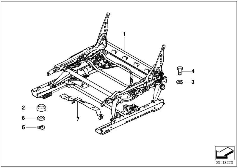 Sitzmechanik rechts  Z4  (52107053942)