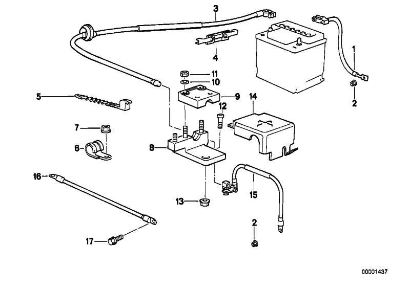 Deckel Halter Batteriekabel  3er  (12421288413)
