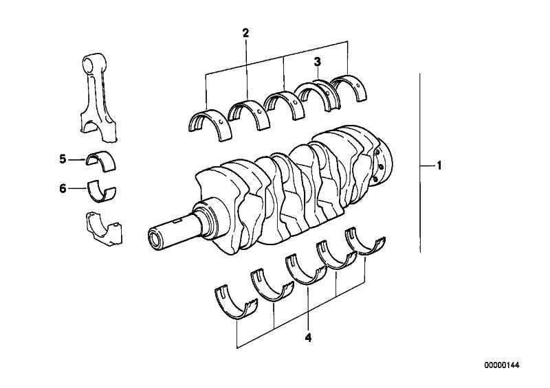 Lagerschale rot 45,00MM(0)      3er 5er 7er X3 X5 Z1 Z3 Z4  (11241284849)