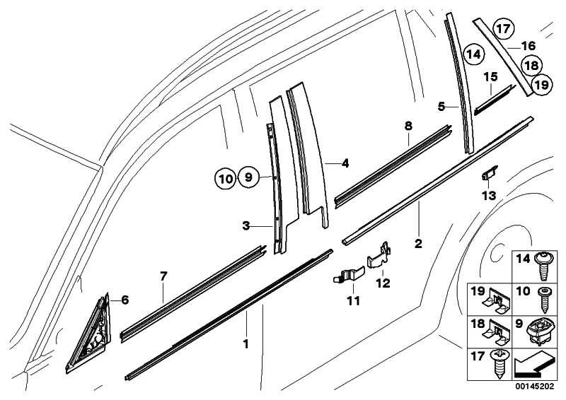 Blende C-Säule Tür hinten rechts  3er  (51347119972)