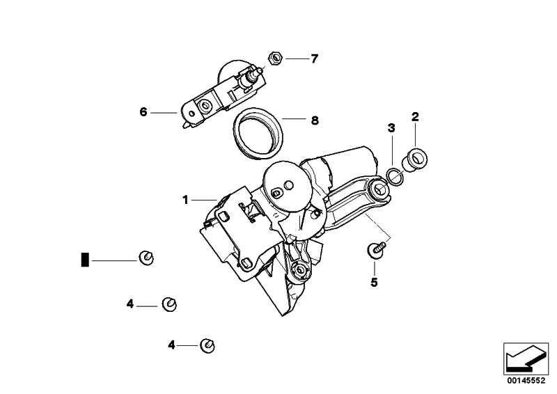 Wischermotor Heckscheibe  3er 5er  (61627208602)