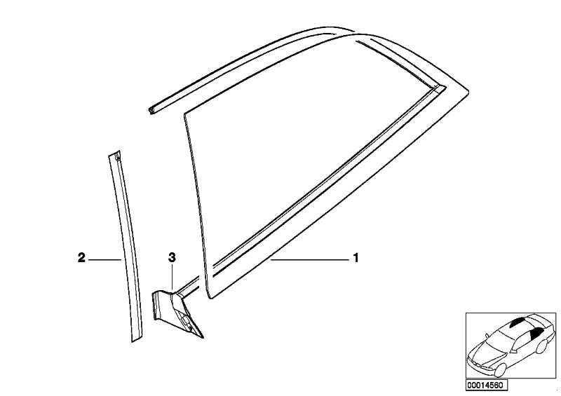 Abdichtung Seitenscheibe hinten links  Z3  (51718399117)