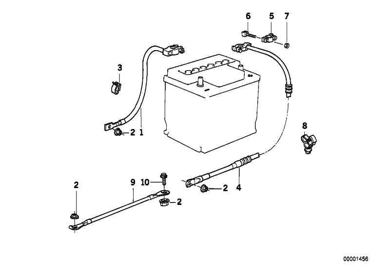 Batteriekabel minus L=860MM 5er  (12421719728)