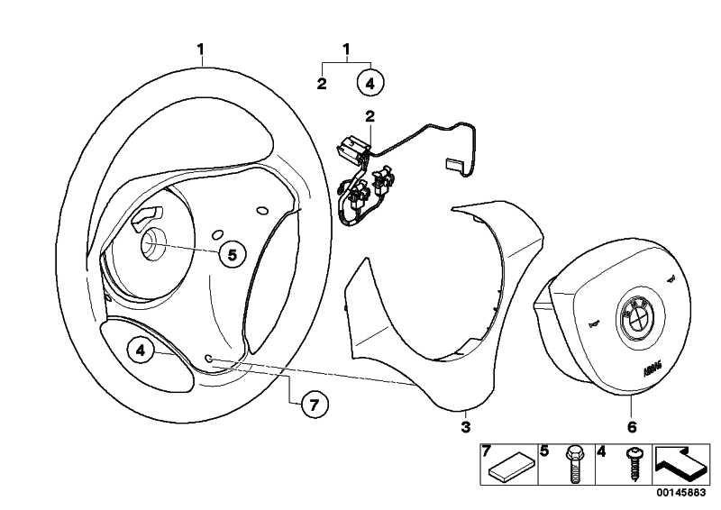 Verbindungsleitung Airbag / Wickelfeder  1er 3er X1 X5 X6  (32306777641)