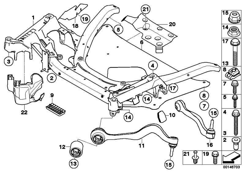 Reparatursatz Querlenker links VALUE LINE      5er  (31122347951)