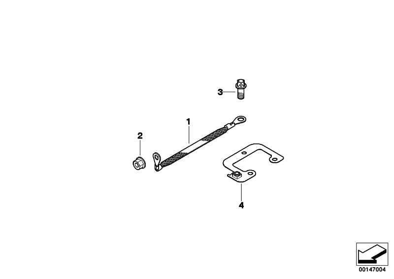 Entstörband Abgasanlage  X5 X6  (12427568573)