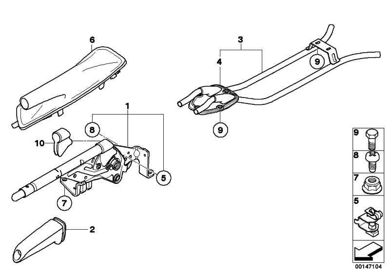 Handbremsgriff mit Chrom-Spange  1er 3er 5er X3 Z4  (34400404523)