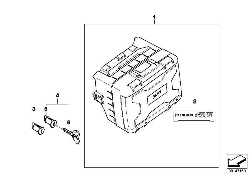 Koffer variabel rechts ohne Zylinder   (71607670828)