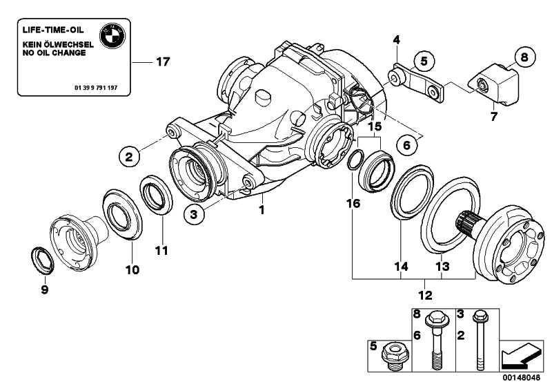Austausch Hinterachsgetriebe I=2,56          1er 3er  (33107566226)