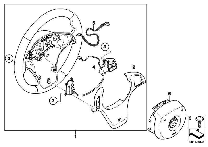 M Sportlenkrad Airb. Leder Multifunktion SCHWARZ         X3  (32303455483)