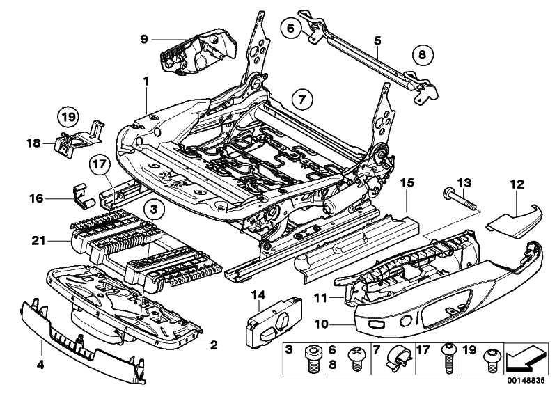 Abdeckkappe Sitzschiene SCHWARZ 1er 3er X1 X3 Z4  (52109110103)