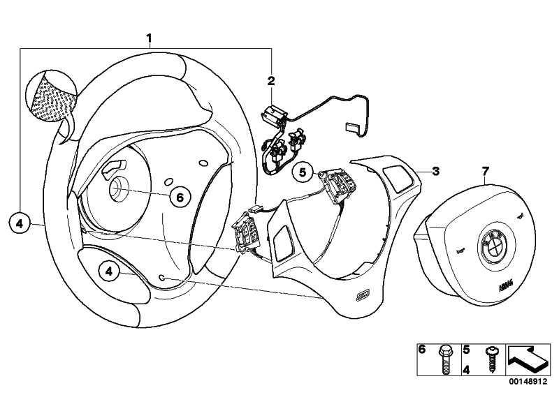M Sportlenkrad Airbag Leder  1er 3er  (32302283733)