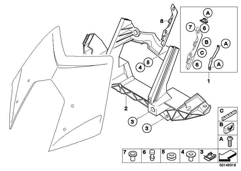Linsenschraube mit Bund 3X10 1er 5er 6er 7er X3 X5 X6 Z4 MINI  (61317682091)