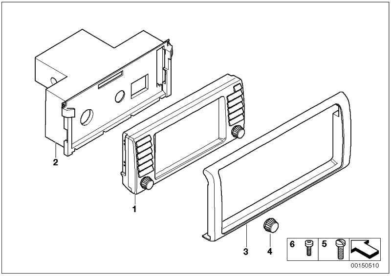 Gehäuse Bordmonitor  X5  (65526988771)