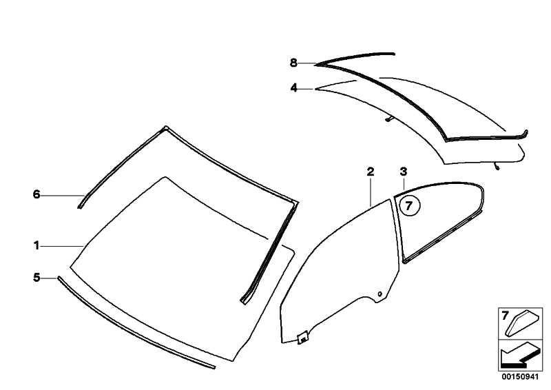 Heckscheibe Sonnenschutzglas  3er  (51317178910)