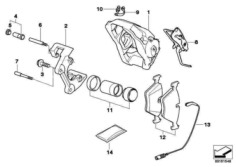 Bremsbelagfühler vorne rechts  3er  (34352283405)