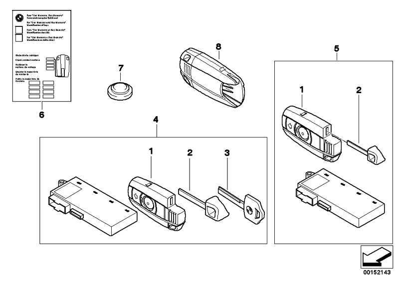 Adapter Reserveschlüssel  3er 5er 6er X5  (66126937508)