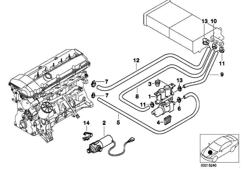 Schlauch Heizkörper-Motorrücklauf  5er  (64218367930)