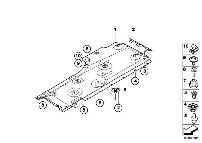 Staulippe Unterbodenverkleidung  1er 3er X1  (51757139114)