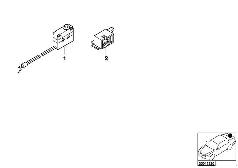 Mikroschalter Taster Heckklappe  3er 5er  (51138185792)