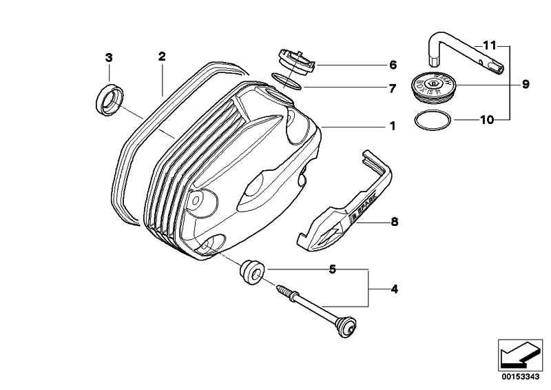 Zylinderkopfhaube silber rechts   (11127673080)
