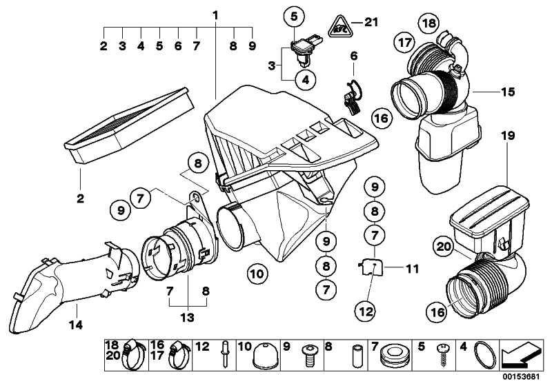 Ansauggeräuschdämpfer  5er 6er  (13717521030)