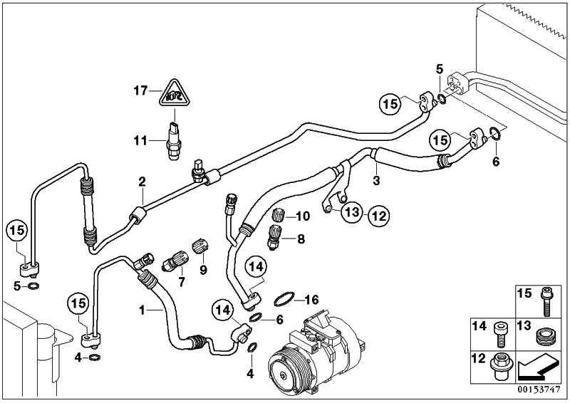 Druckleitung Kompressor-Kondensator  7er  (64538385265)