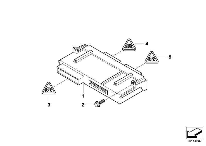 Junctionbox Elektronik 3  1er 3er X1 Z4  (61359286790)