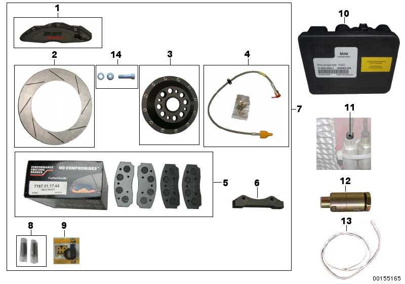 Bremsscheibe links CP3580-1163G8M:JCM MINI CHALLENGE MINI  (34110393841)