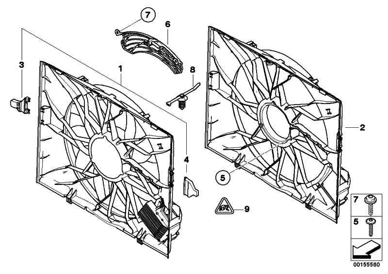 Lüfterzarge mit Lüfter  5er 6er  (17422282936)