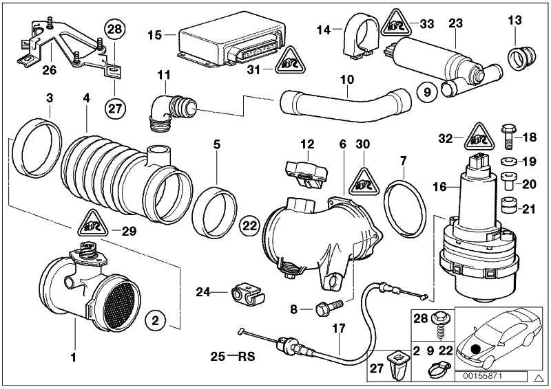 Reparatursatz Drosselklappensteller ASC+T           3er 5er 7er 8er Z3  (35411161430)