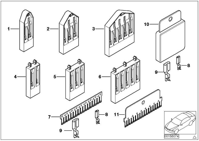 Isoliergehäuse Kammverbinder 5 POL. 3er 5er 6er 7er X3 X5 X6 Z3 Z4 Z8  (61131393739)