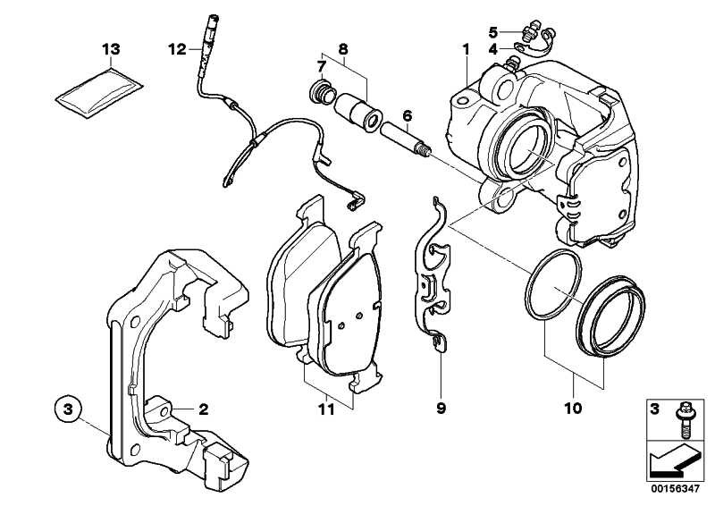Reparatursatz Bremsbeläge  X5 X6  (34116852253)