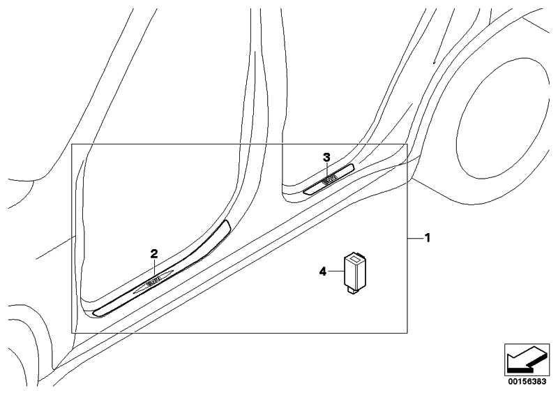Einstiegsleiste beleuchtet vorn links  X5 X6  (51470418106)