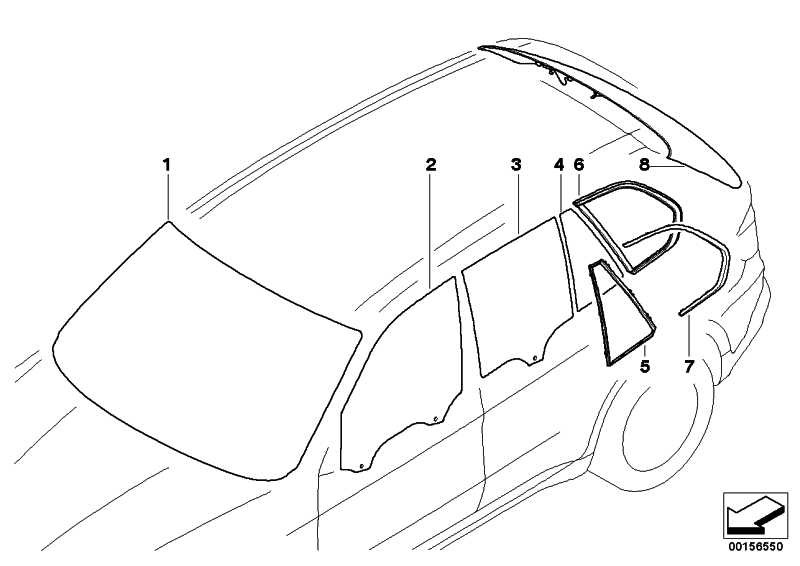 Frontscheibe grün Regensensor RS              X5  (51317152754)