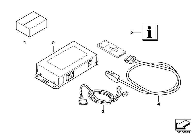Nachrüstsatz iPod-Anschluss  5er 6er 7er X5 X6  (65412160344)