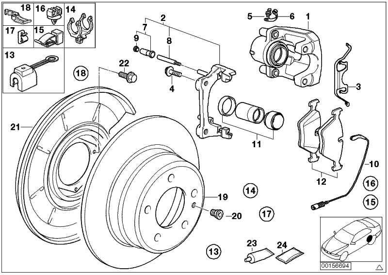 Reparatursatz Bremsbeläge asbestfrei JURID 508 FE    8er  (34211162865)