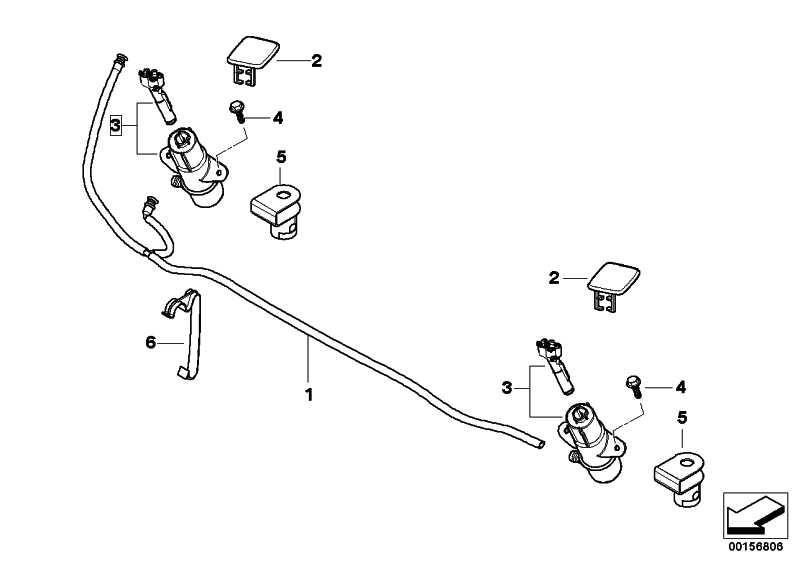 Schlauchleitung Scheinwerferwaschanlage  X3  (61673416224)