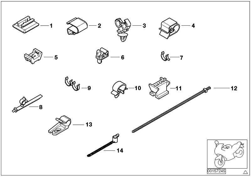 Halter für Kabelbinder SCHWARZ          (61137660211)