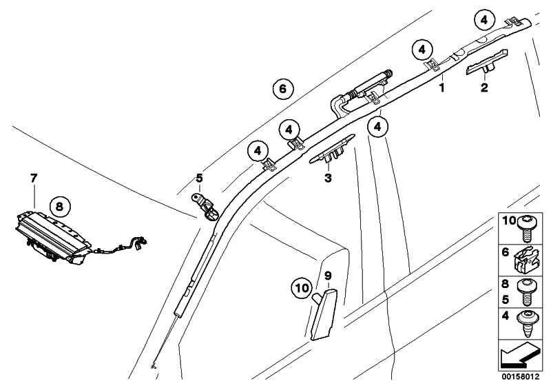 Seitenairbag Sitz vorne links  X5 X6  (52107161063)