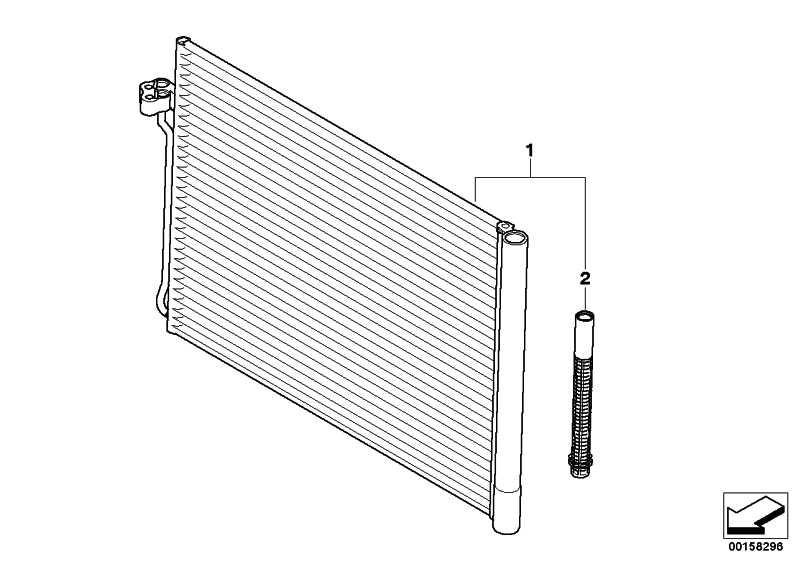 Kondensator Klimaanlage mit Trockner  X5 X6  (64509239944)
