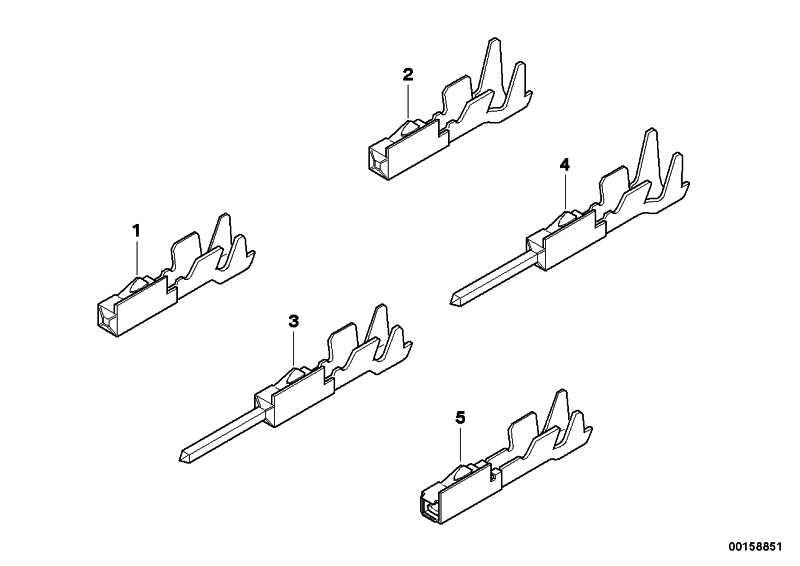 Stiftkontakt MQS ELA 0,5-0,75MM² /SN 1er 3er 5er 6er 7er X1 X3 X5 Z3 Z4 Z8  (61138366269)