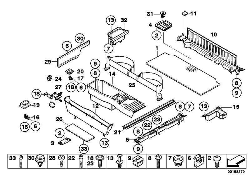 Griff Einlegeboden Gepäckraum ANTHRAZIT       5er X5 X6  (51476958161)