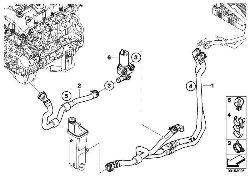 Schlauch Heizkörper-Motorrücklauf  X3  (17123448462)