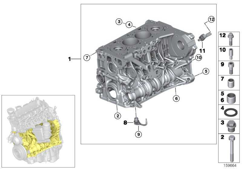 Zylinder-Kurbelgehäuse mit Kolben  1er 3er 5er X3  (11112285304)