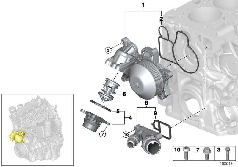 Kühlmittelpumpe mechanisch  3er  (11514738427)